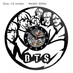 K-POP BTS Bulletproof Boy Scouts PVC Anime Wall Clock