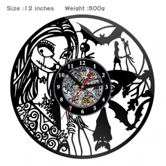 4 Styles The Nightmare Before Christmas PVC Anime Wall Clock Wall Decorative Picture
