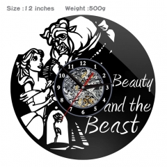 Beauty and the Beast PVC Anime Wall Clock Wall Decorative Picture