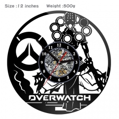 2 Styles Overwatch PVC Anime Wall Clock Wall Decorative Picture