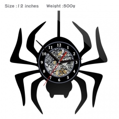 2 Styles Spider Man PVC Anime Wall Clock Wall Decorative Picture