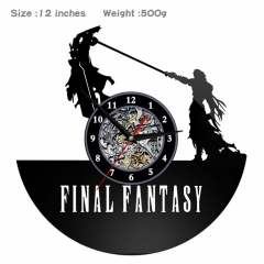 Final Fantasy PVC Anime Wall Clock Wall Decorative Picture