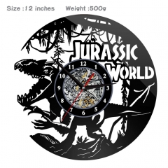 Jurassic Park PVC Anime Wall Clock Wall Decorative Picture