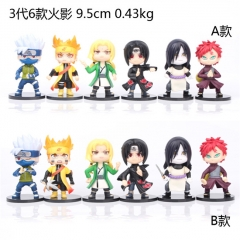2 Styles (6pcs/set) Naruto Manga Collection Anime PVC Figure Collection Toy