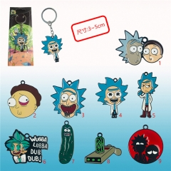 9 Styles Rick and Morty Anime Keychain /Necklace