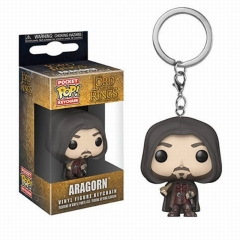 Funko POP Figure Keychain The Lord of the Rings Aragorn II Q versions Anime PVC Figures
