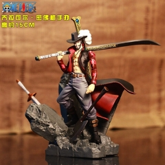 One Piece Dracule Mihawk Cartoon Collectible Gift Plastic Model Anime PVC Figure