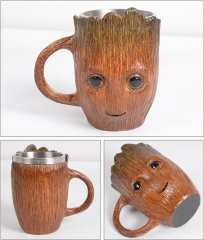 Guardians of the Galaxy Groot 3D Cosplay Stainless Steel Anime Mug Cup