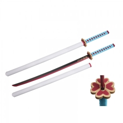 Demon Slayer: Kimetsu no Yaiba Kanroji Mitsuri Sword PU Material Plastic Sheath Anime Foam Sword Weapon (104CM)