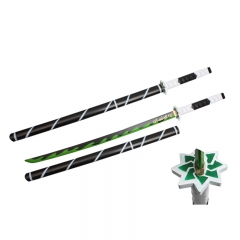Demon Slayer: Kimetsu no Yaiba Shinazugawa Sanemi Sword PU Material Plastic Sheath Anime Foam Sword Weapon (104CM)