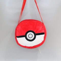 Pokemon Poke Ball Cartoon Character For Kids Anime Plush Crossbody Bag