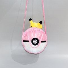 Pokemon Pikachu Poke Ball Cartoon Character For Kids Anime Plush Crossbody Bag