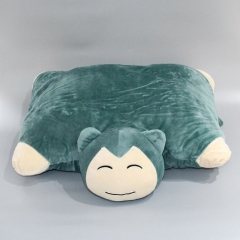 Pokemon Snorlax Cartoon Character Folding Anime Plush Pillow