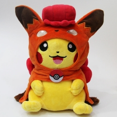 2 Styles Pokemon Cute Pikachu Cos Vulpix Cartoon Character Collection Gift Stuffed Dolls Anime Plush Toy