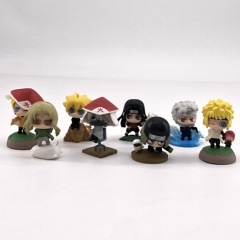 Naruto Mini Cute Size Cartoon Character Collectible Anime PVC Figures (8pcs/set)