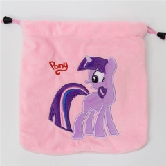 My Little Pony Hot Game Cartoon Anime Plush Drawstring Pocket Bag