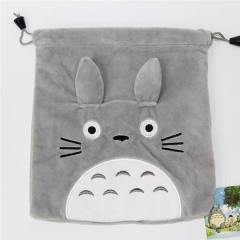 My Neighbor Totoro Cartoon Anime Plush Drawstring Pocket Bag