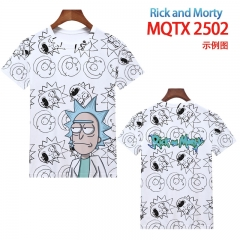 2 Styles Rick and Morty Cartoon 3D Printing Short Sleeve Casual T-shirt (European Sizes)