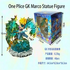 GK One Piece Marco Cartoon Character Collectible Toys Anime PVC Figure