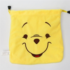 Winnie the Pooh Cartoon Anime Plush Drawstring Pocket Bag