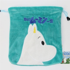 Hippo Cartoon Anime Plush Drawstring Pocket Bag