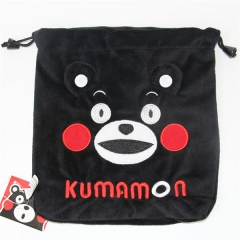 Kumamon Cartoon Anime Plush Drawstring Pocket Bag