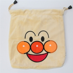 Anpanman Cartoon Anime Plush Drawstring Pocket Bag