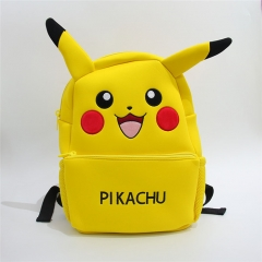 Pokemon Pikachu Character Collection Doll Anime Plush Bag Students Backpack ( Original  )