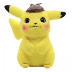 28cm Pokemon Detective Pikachu Character Collection Doll Anime Plush Toys ( Original  )