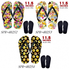 3 Styles The face Emoji Cute Soft Rubber Flip Flops Anime Slipper