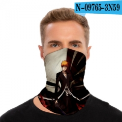 10 Styles Bleach Customizable Design Polyester Multifunctional Anime Magic Turban+Face Mask