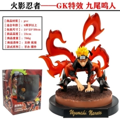 GK Battle Version Naruto Nine Tail Demon Fox Anime Figure PVC Figure Toy 24cm