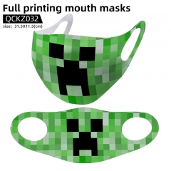 2 Styles Minecraft Anime trendy mask face mask