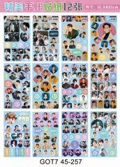 K-POP GOT7 Korean Stars Decorative Collection Luggage Waterproof Sticker