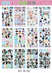 K-POP BTS Bulletproof Boy Scouts Cartoon Decorative Collection Luggage Waterproof Sticker