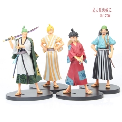 17CM One Piece Cartoon Character Collectible Model Toy Anime PVC Figure (4pcs/set)