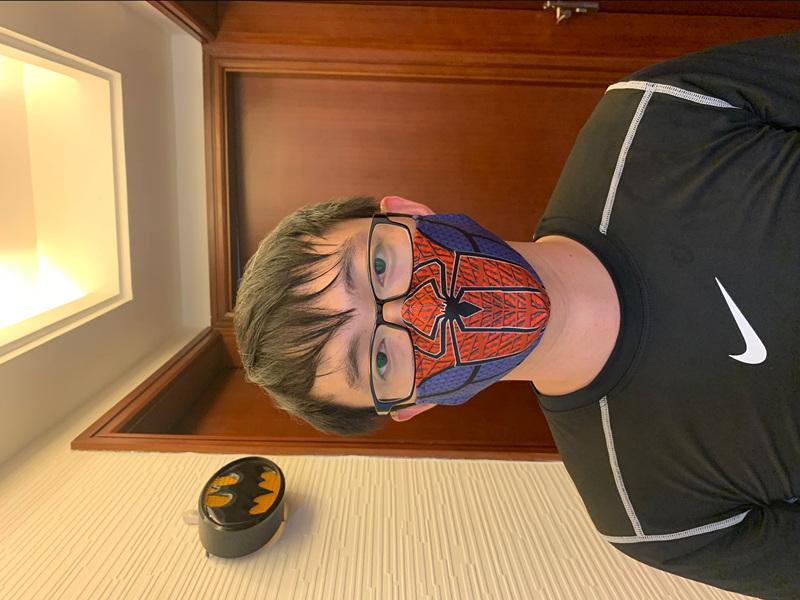 Venom Cosplay Cartoon Mask Space Cotton Anime Print Mask