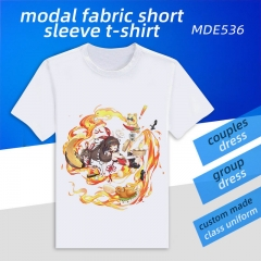 Genshin Impact Custom Design Modal Fabric Material Short Sleeves Anime T-shirts