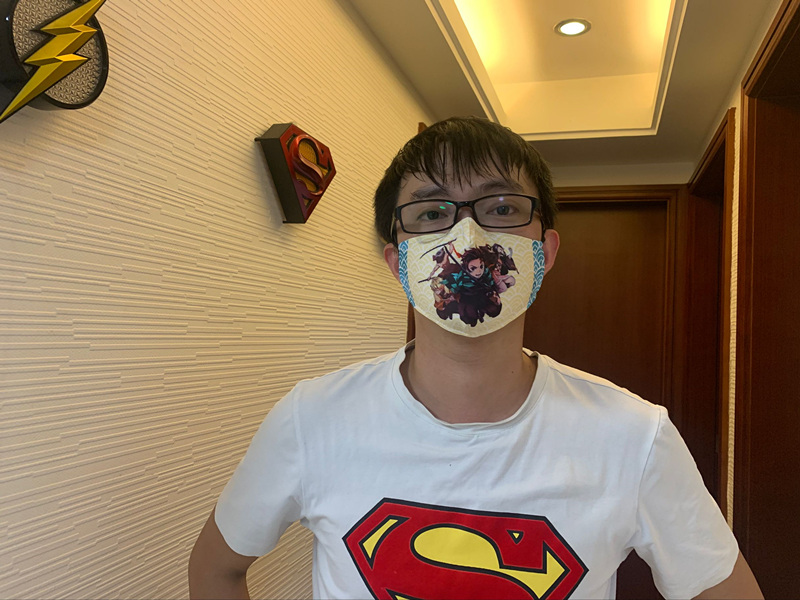 Spider Man Cosplay Cartoon Mask Space Cotton Anime Print Mask