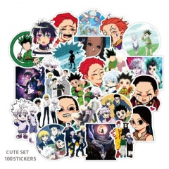 100PCS HUNTER×HUNTER Decorative Collectible Waterproof Anime Luggage Stickers Set