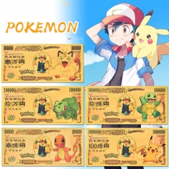 5 Styles Pokemon Anime Paper Crafts Souvenir Coin