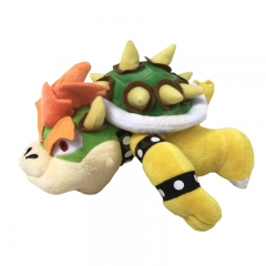 25CM Super Mario Bros. Bowser Cartoon Character For Kids Collectible Doll Anime Plush Toy