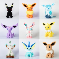 30CM Pokemon Eevee Family Cartoon Character For Kids Collectible Doll Anime Plush Toy