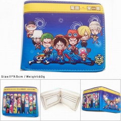 One Piece Colorful Printing Anime PU Leather Fold Short Wallet