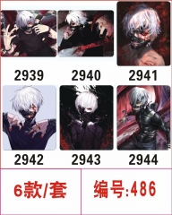6pcs/set Tokyo Ghoul Cartoon Cosplay Cheapest Mouse Pad Fancy Print Mouse Pad
