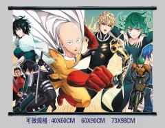 2 Styles One Punch Man Cosplay Cartoon Wall Scrolls Decoration Anime Wallscrolls