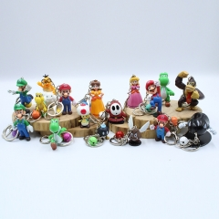 Super Mario Bro. Game Character Anime PVC Figure Keychain (Set)