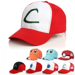 8 Styles Pokemon Game Anime Hat and Cap