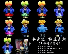 Dragon Ball Z Trunks Torankusu Character 7 Colors Light Collectible Model Anime PVC Figure