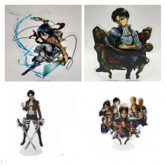 4 Styles Attack on Titan/Shingeki No Kyojin Cartoon Acrylic Anime Standing Plate